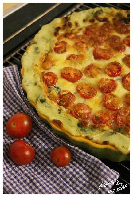 Rezept für Béchamel Lasagne mit Spinat und Tomaten vegetarisch