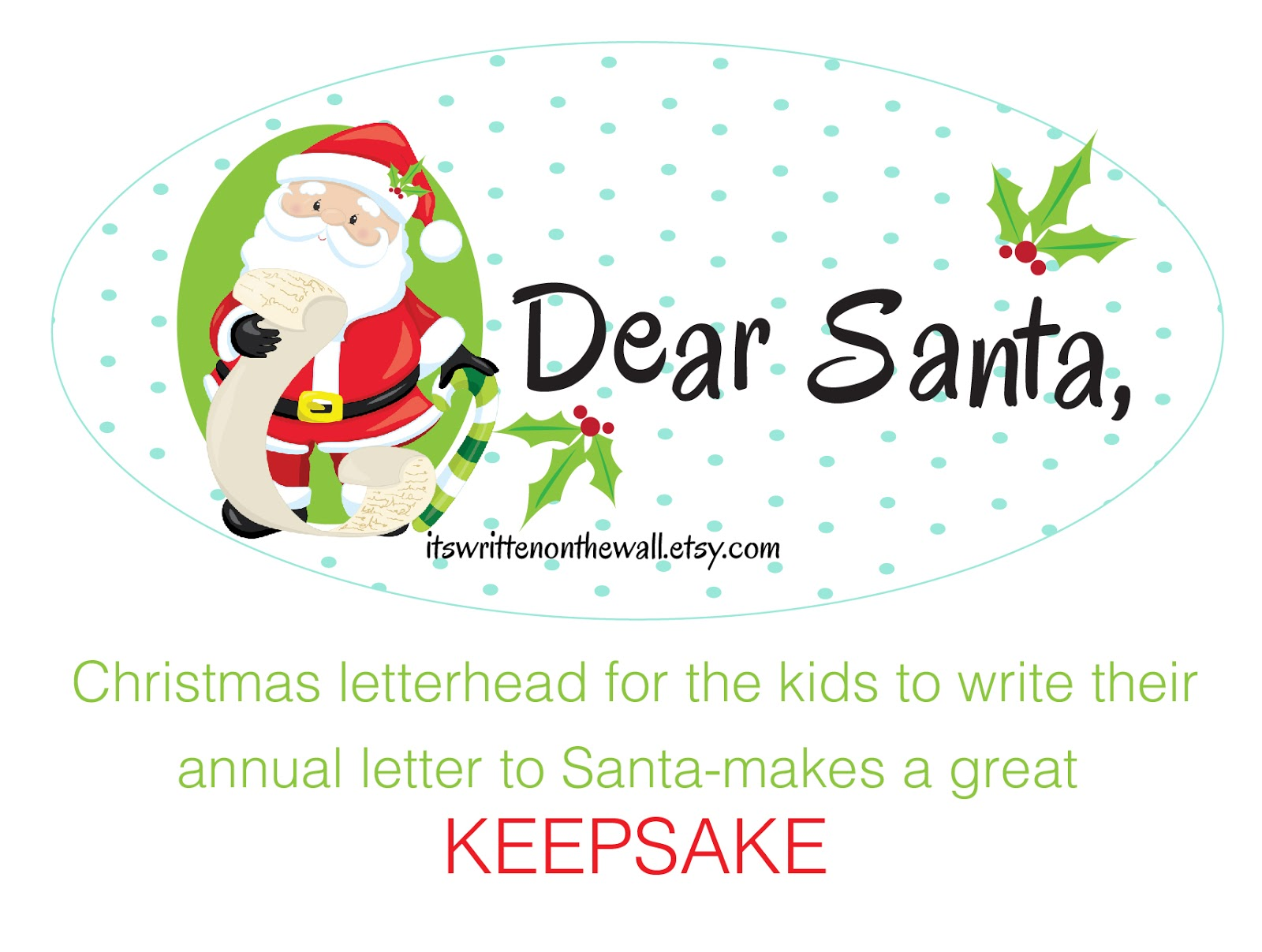 Its written on the wall dear santa christmas letterhead for dear santa christmas letterhead for writing to santa claus 4 versions aljukfo Gallery