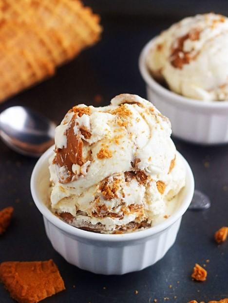 Homemade Biscoff Ice Cream