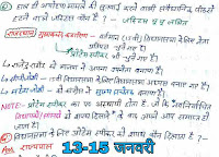 14 January Current Affairs 2019,  Current Affairs Handwritten Notes