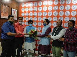 #JaunpurLive : बिहार के उद्योग मंत्री से मिला जायसवाल युवा महासभा का प्रतिनिधिमण्डल