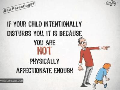 如果你的孩子总是故意打扰你,其实是因为你和他缺乏肢体接触,缺乏亲密感。