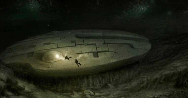 Baltık denizi anomalisi, Yıldız Savaşları filminden fırlamış bir Millennium Falcon uzay gemisini andırmaktadır.