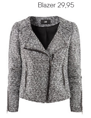 Motorcycle Tweed Blazer H&M Fall 2012 Collection