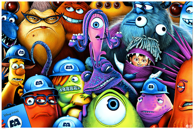 Monsters Inc Mondo Poster by Sara Deck