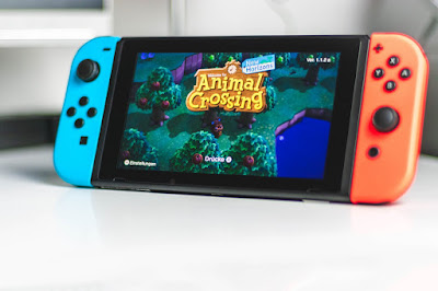 Animal Crossing game displayed on a Nintendo Swith