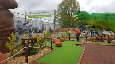 Jurassic Golf at Bridgemere Garden World in Nantwich