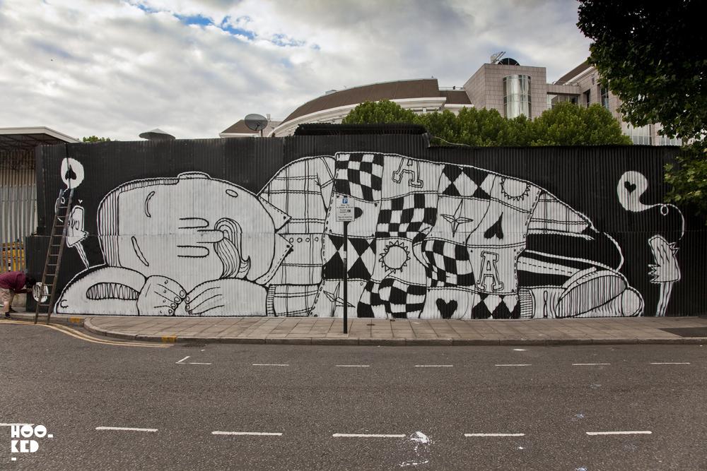 Sleeping Giant London Mural by Street Artist Alex Senna