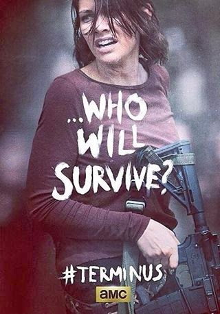 "Poster de Maggie para el final de la cuarta temporada  ""The Walking Dead"""