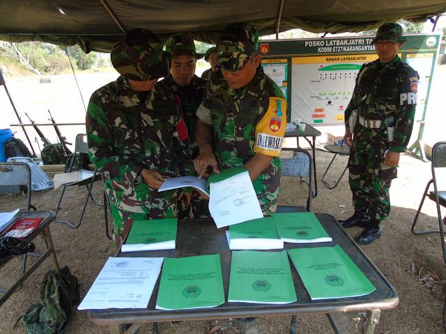 Kodim Karanganyar – Team Dalwaslat Korem 074 Warastratama Tinjau Latihan Menembak Kodim 0727 Karanganyar