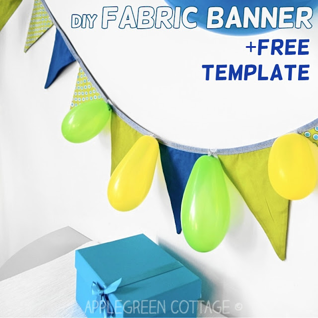 free sewing pattern for a fabric banner