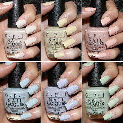 OPI SoftShades 2016 Collection Swatches