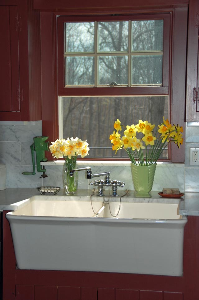 My Farmhouse Kitchen Sink In Early Spring