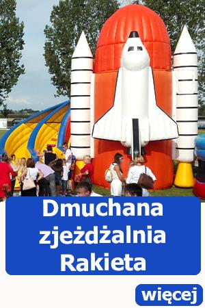 dmuchana zjeżdżalnia prom kosmiczny, atrakcje dla dzieci, dmuchańce wrocław