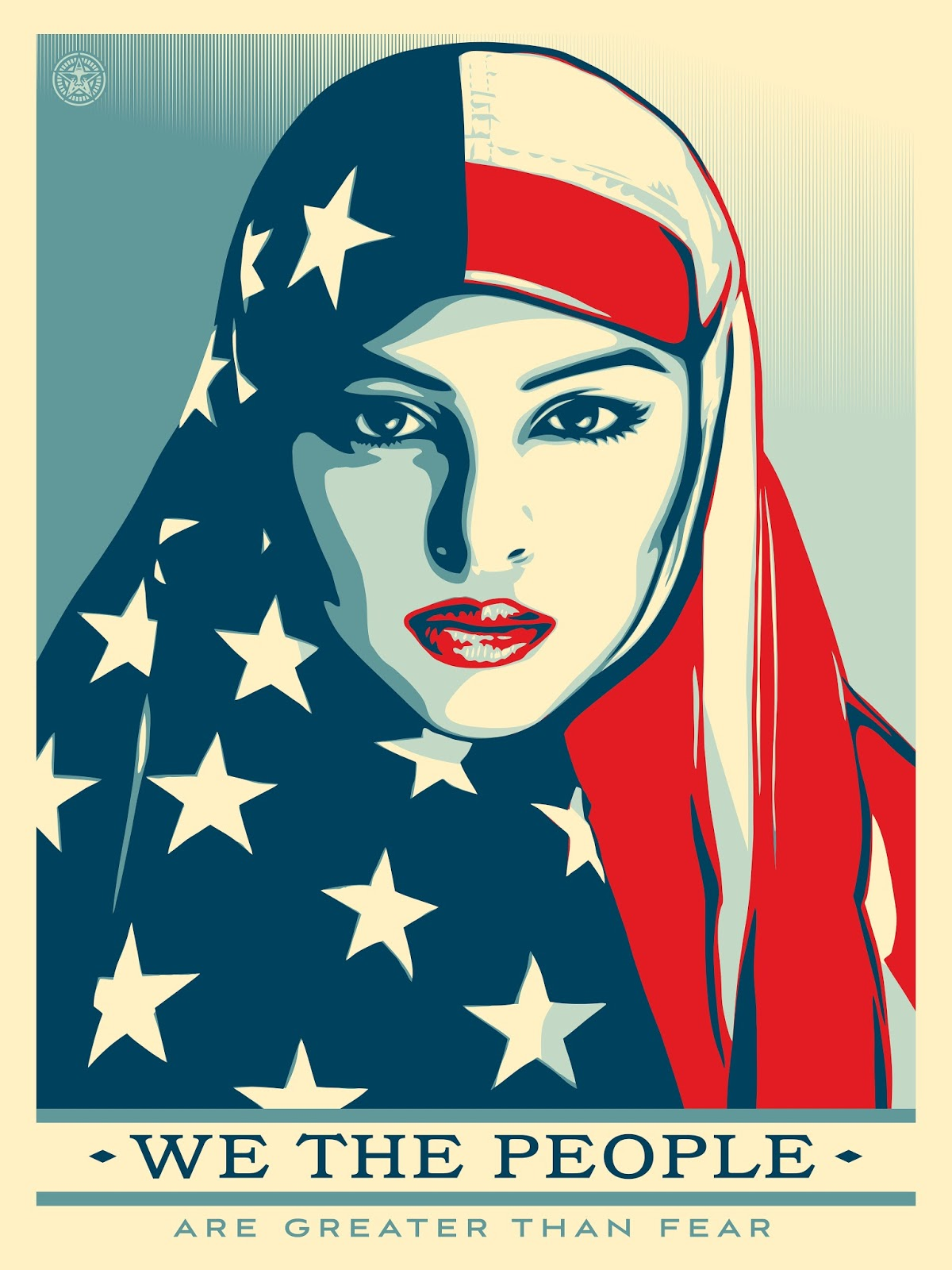 Womens March Hijab, American flag hijab, muslim women, ridwan adhami, muslim american, muslim fashion