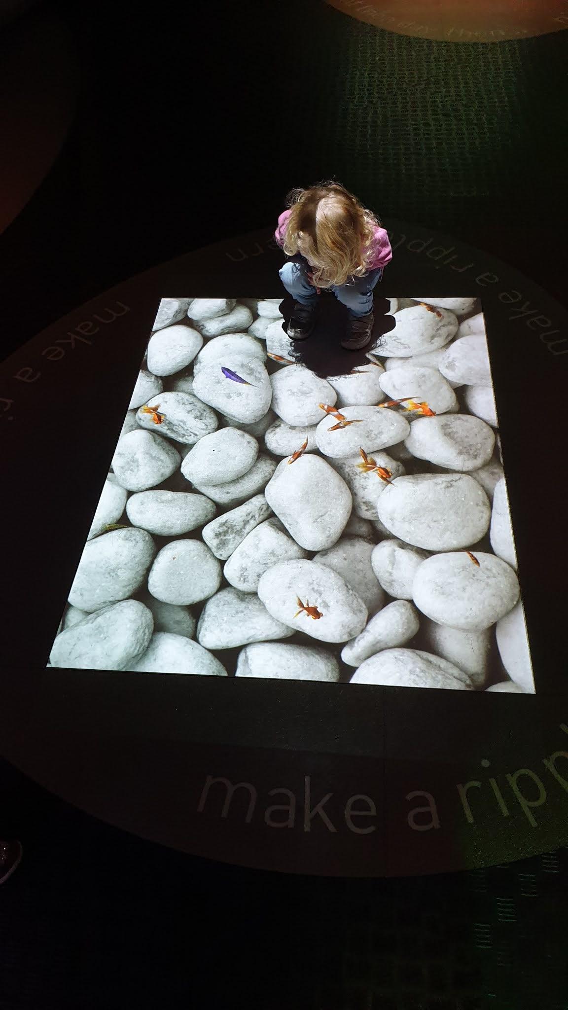 kid at pattern pod exhibition