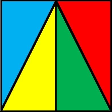 HOW TO DIVIDE A SQUARE INTO FOUR (4) EQUAL PARTS ~ Mathematics Realm