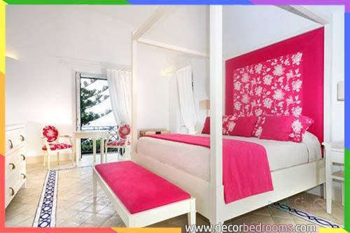 غرف نوم عرسان وردية