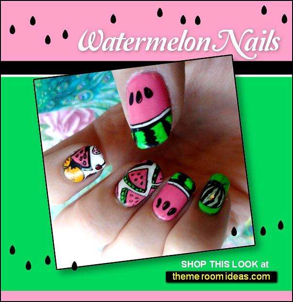 Summer Seeds Stamping Plate for Nail Art Design watermelon nail design watermelon nails watermelons