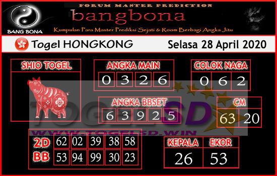 Prediksi HK 28 April 2020 - Bang Bona HK