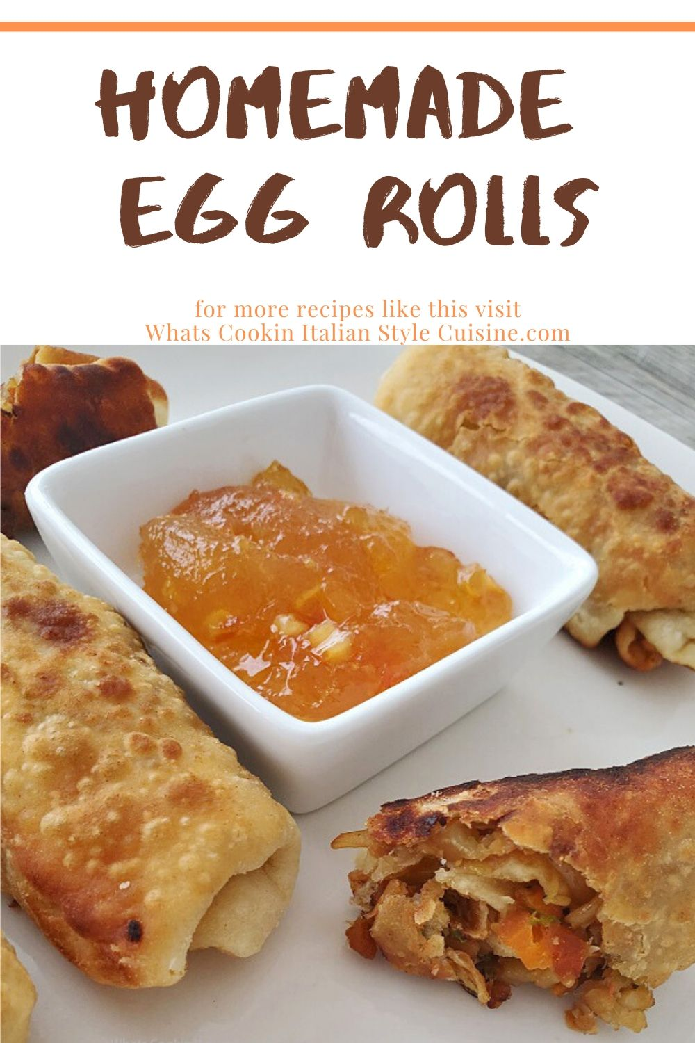 this is a pin for later on how to make homemade egg rolls
