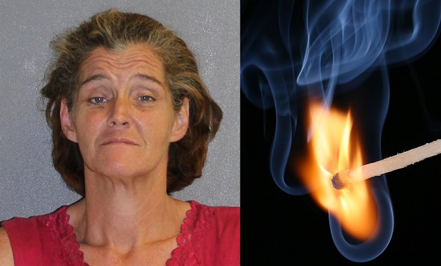 Florida woman sets boyfriend on fire