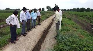 घटिया नहर निर्माण को लेकर किसानों की मांग पर तहसीलदार ने पहुचकर किया मौका मुआयना