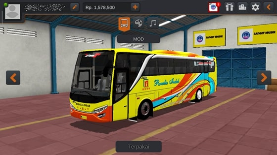 Livery JBHD2 New Setra MD Creation Rosalia Indah Kuning