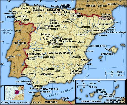 Karta Over Spanien Regionen Karta Over Sverige Geografisk