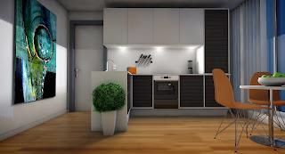 وازن بين الألوان الفاتحة والداكنة في مطبخك