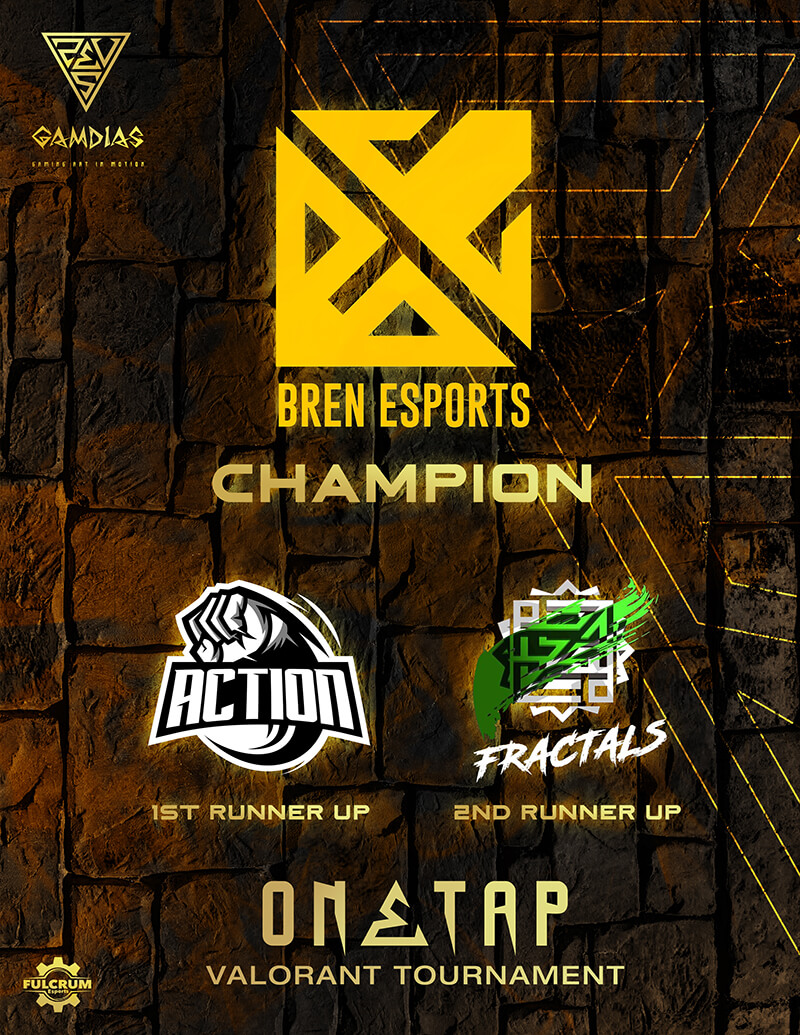 The Valorant team of Bren Esports once again asserted dominance in the local Esports scene Bren Esports Valorant Team wins Championship in Gamdias One Tap Tournament