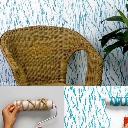 dekorasi warna cat dinding plastik tali