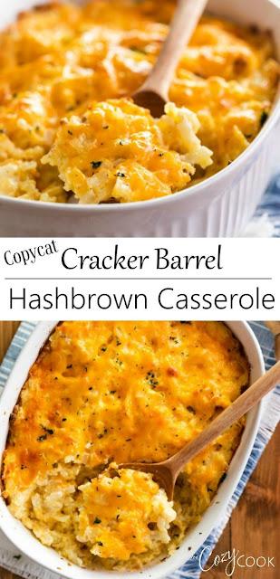 Copycat Cracker Barrel Hashbrown Casserole