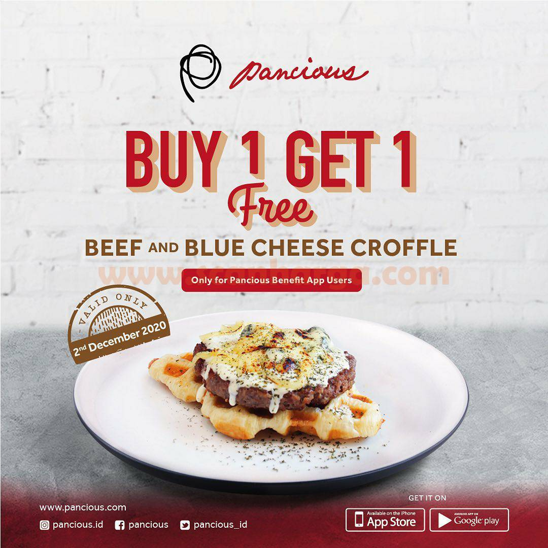 Pancious Promo Buy 1 Get 1 Free Beef and Blue Cheese Croffle