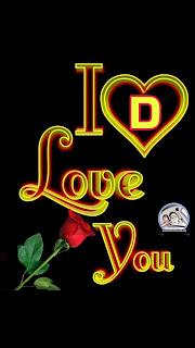 i love you d nameart