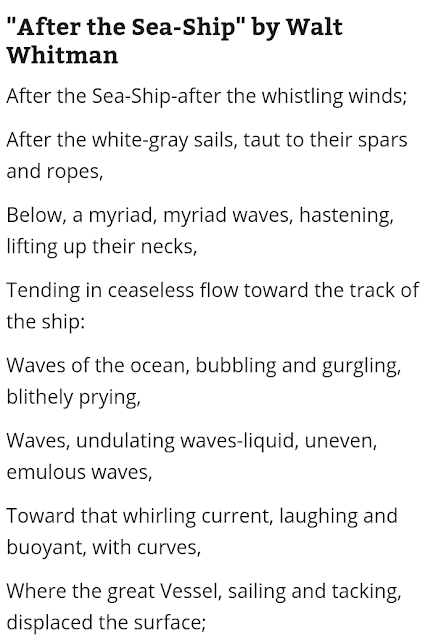"""After the Sea Shop"" by Walt Whitman  - Examples of Free Verse Poem"