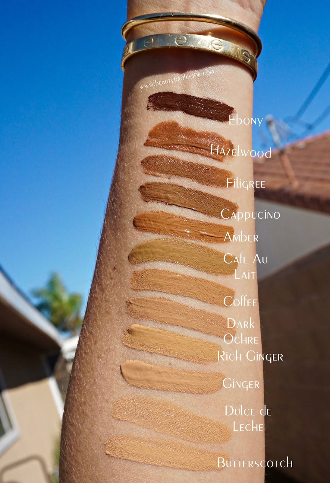 Jouer Essential High Coverage Concealer swatches
