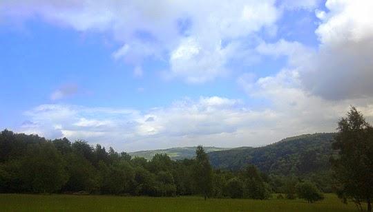 Dolina Śmierci. W głębi widać wzgórze Franków (534 m n.p.m.).