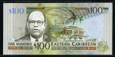 Eastern Caribbean money currency banknotes one hundred Dollars bill