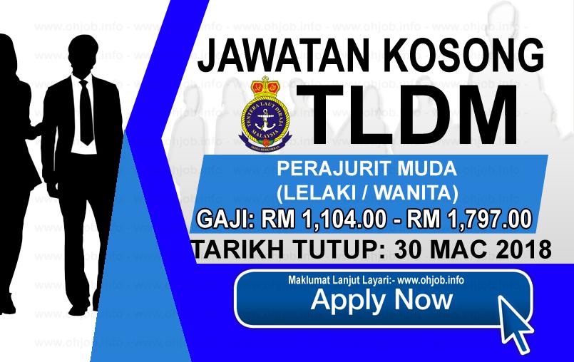 Jawatan Kerja Kosong Perajurit Muda TLDM logo www.ohjob.info mac 2018