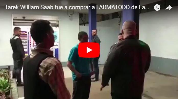 Tarek William Saab fue a comprar a  FARMATODO de Las Mercedes