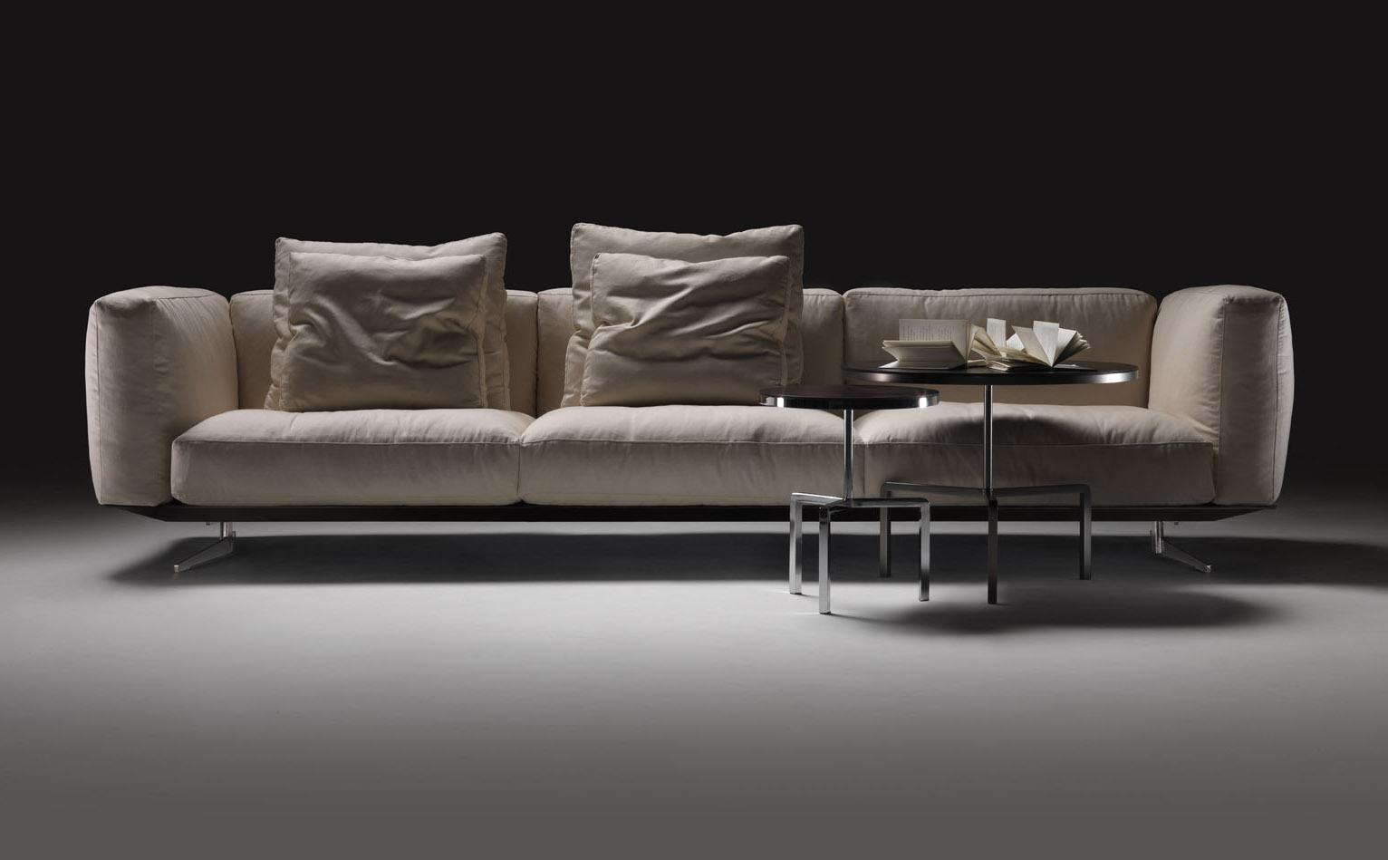Down Filled Leather Sectional Sofa Cb2 Frost Sleeper Soft Dream By Flexform - Designer Furniture: Fitted ...