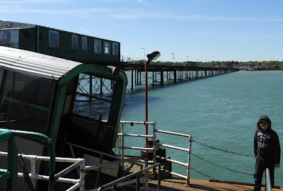 hythe pier from ferry gangplank