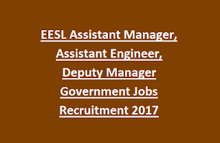 EESL Assistant Manager, Assistant Engineer, Deputy Manager Government Jobs Recruitment 2017