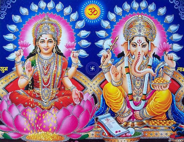 Best Laxmi & Ganesh Om HD Wallpaper