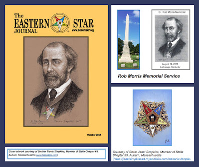 The Eastern Star Journal Features Rob Morris Portrait by Travis Simpkins and Painting by Janet Simpkins