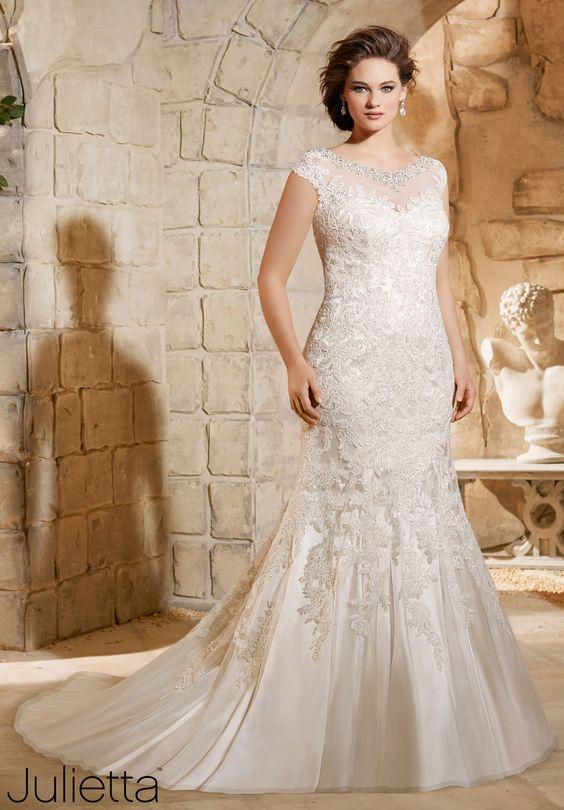 vestidos de novia corte sirena<