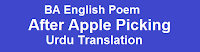 """BA English Poem After Apple-Picking by Robert Frost Urdu Translation""BA English Poems Notes PDF""BA English all poems Urdu Translation""BA English Complete Notes"""