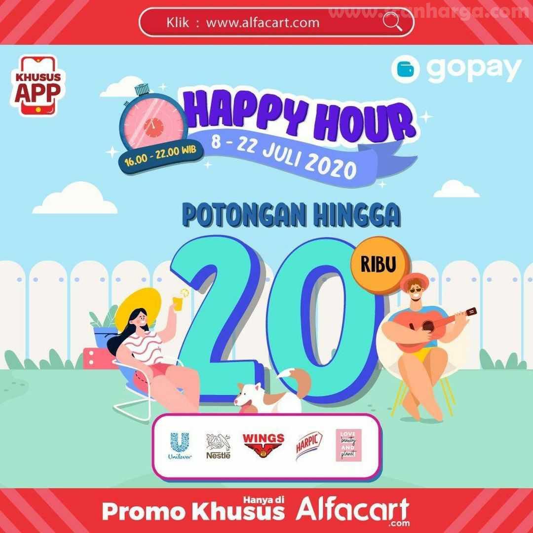 Alfamart - Promo Alfacart Gopay Happy Hour Potongan Hingga 20 Ribu