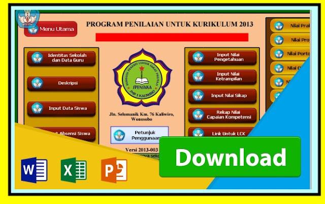 Download Aplikasi Raport Kurikulum 2013 Revisi 2017